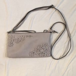 Jessica Simpson Floral gray clutch purse